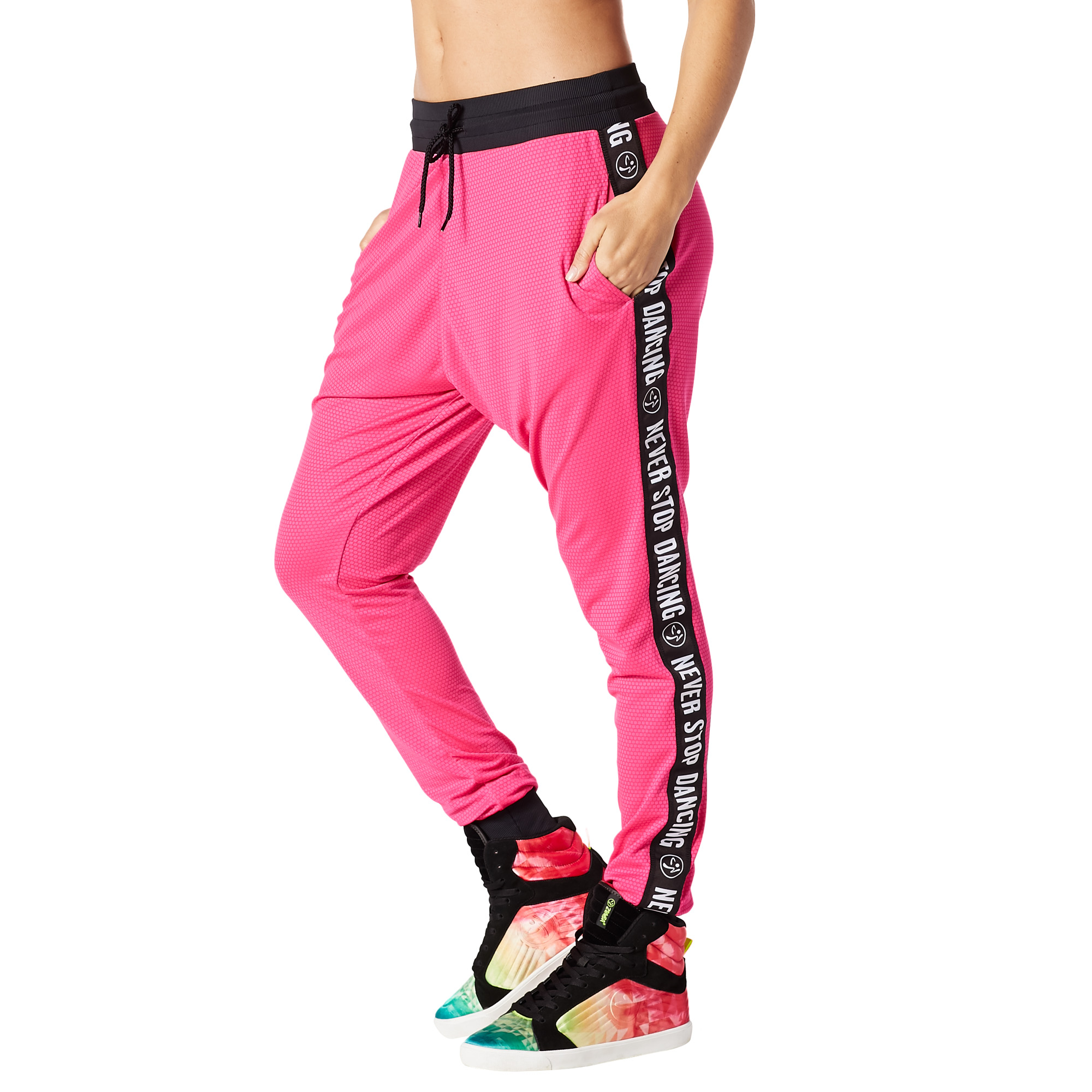 When The Sun Goes Down Mesh Jogger Pants Zumba Shop