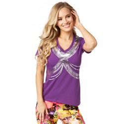 Zumba All Night V Neck Tee