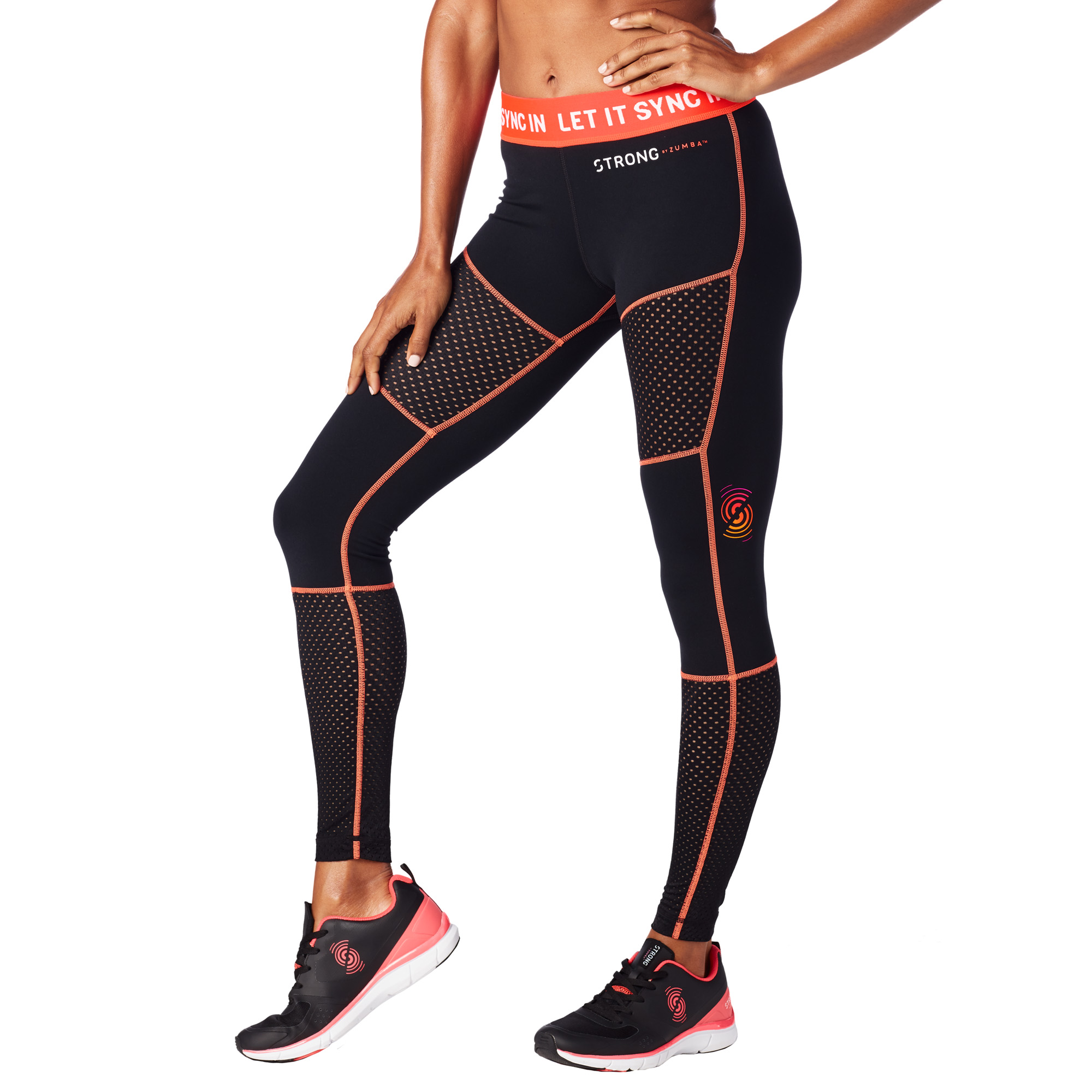 Zumba Fitness Leggings: Let It Sync In Paneled Mesh Leggings