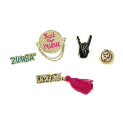 Feel The Music Pins 5Pk