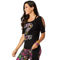 Zumba Party Cold Shoulder Top