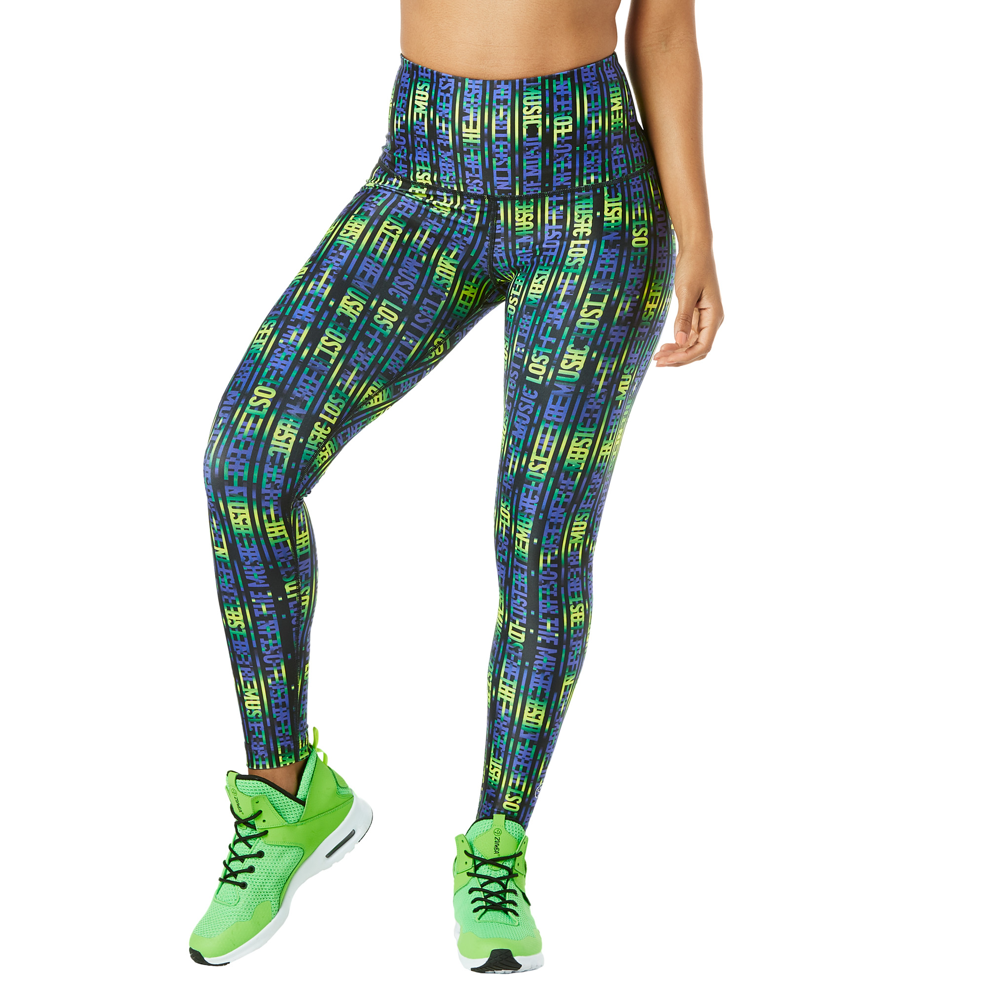 4e4c970a32628f Lost In The Music High Waisted Ankle Leggings   Zumba Shop SEAZumba ...