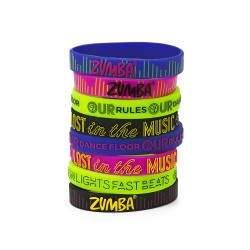 Lost In The Music Rubber Bracelets 8Pk