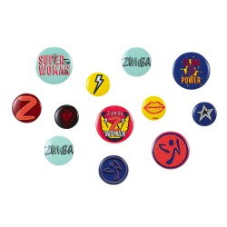 Zumba Power Woman Pins 12PK