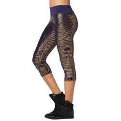 I Run This Metallic Capri Leggings