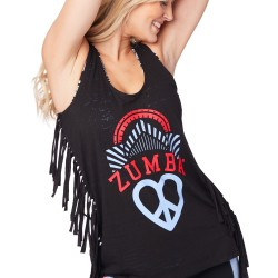 Peace, Fringe and Zumba Tank