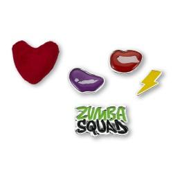Zumba Squad Shoe Charms 5Pk