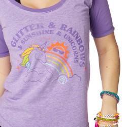 Glitter And Rainbows Baseball Tee