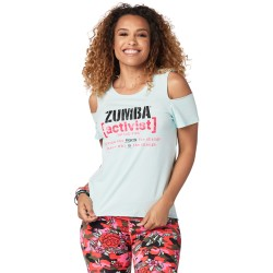 Zumba Activist Cold Shoulder Top