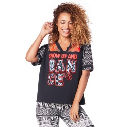Dance Zumba V Neck Top