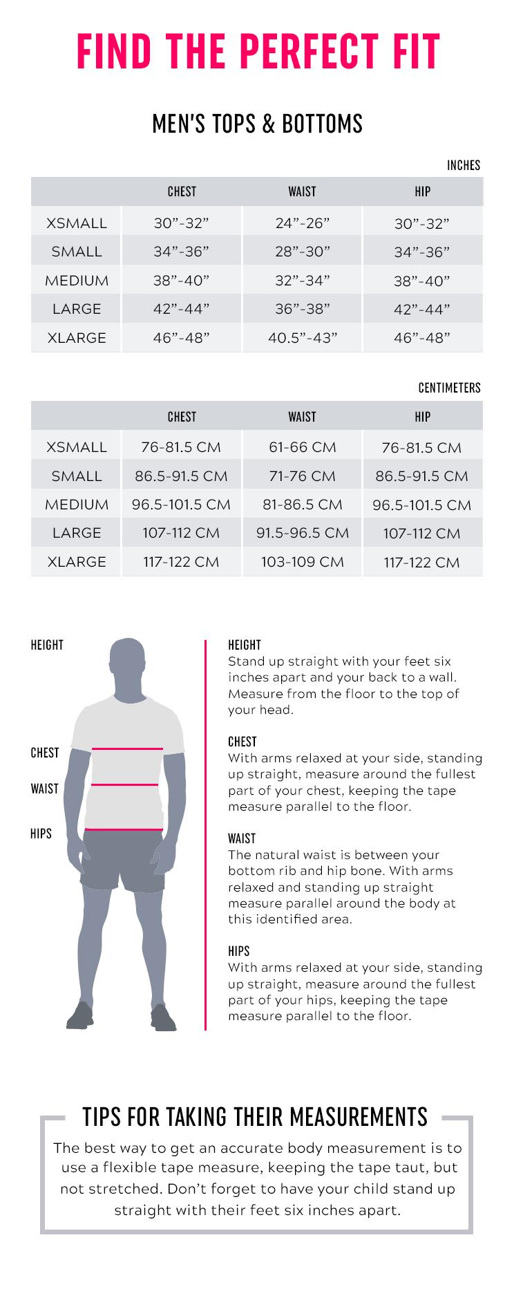Strong Men Size Chart
